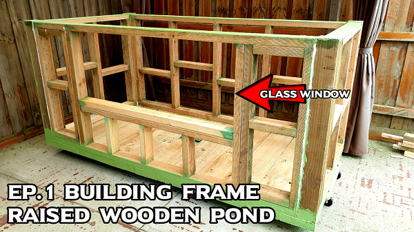 Building Frame of DIY Backyard Garden Pond