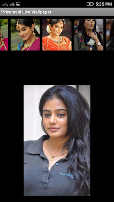Priyamani 3D live Wallpaper For Android Mobile Phone