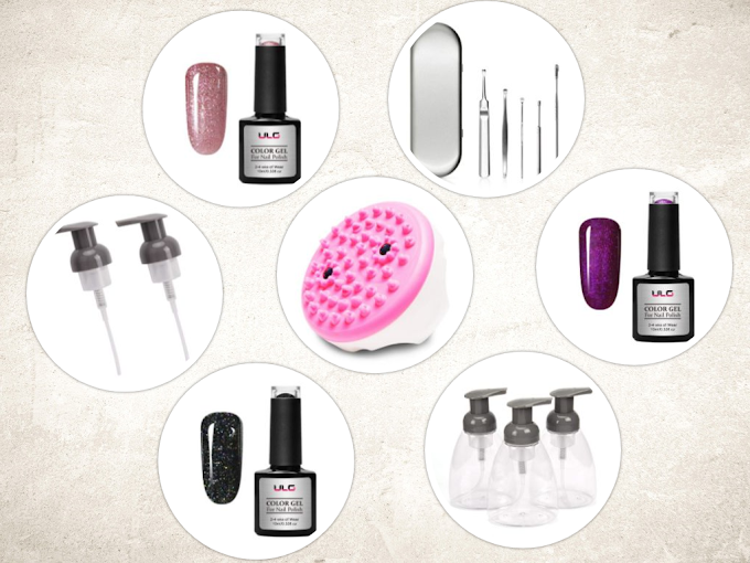 AMAZON - 30% off 7 items Gel Nail Polish Soap Dispensers Pump Lids