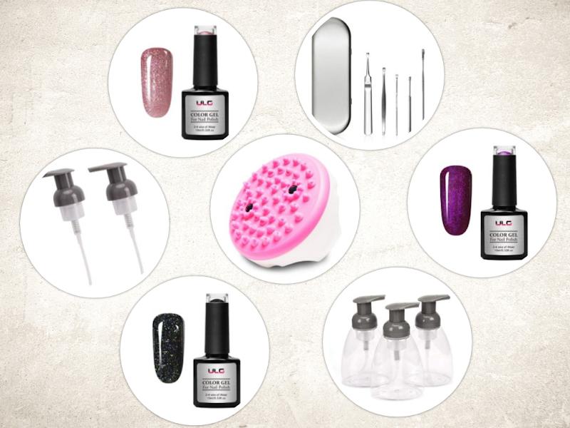 AMAZON - 30% off 7 items Gel Nail Polish Soap Dispensers Pump Lids