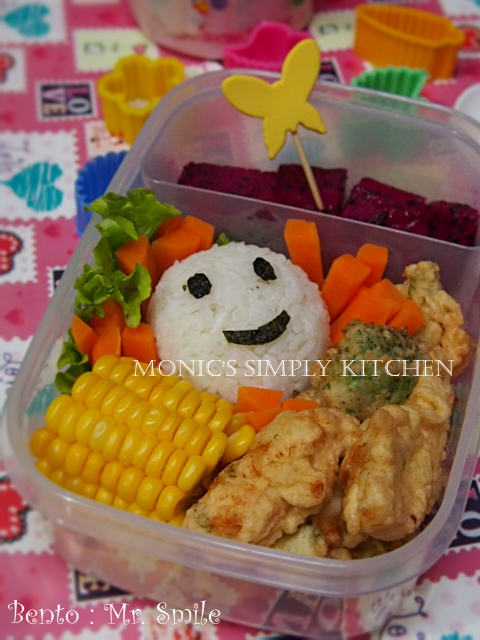 bento anak sederhana mr smile