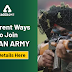 Different Ways to join Indian Army: Get Details Here