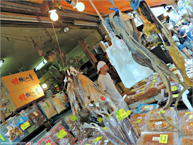 Pescado Seco en el Mercado de Pescado de Tsukiji, Tokio