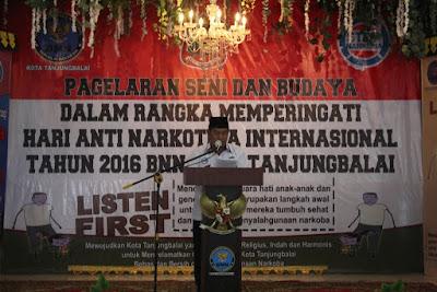 Kakan.Kemenag Tanjungbalai Hadiri Acara Hari Anti Narkoba Internasional Tahun 2016
