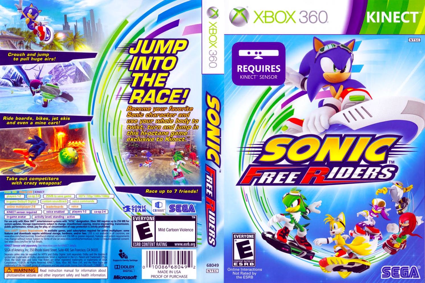 sonic free riders xbox 360 iso download