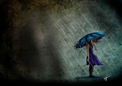 sad urdu ghazal and sad girl in rain dpz