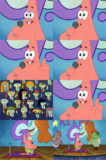 Polosan meme spongebob dan patrick 98 - patrick demam panggung