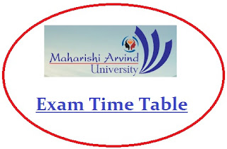 MAU Jaipur Exam Date Sheet 2021