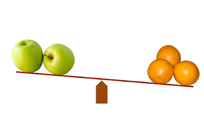apples and oranges balancing