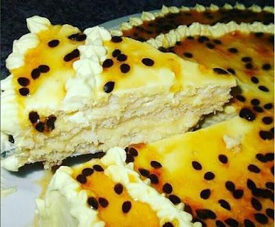 Receita de torta de maracujá passo a passo
