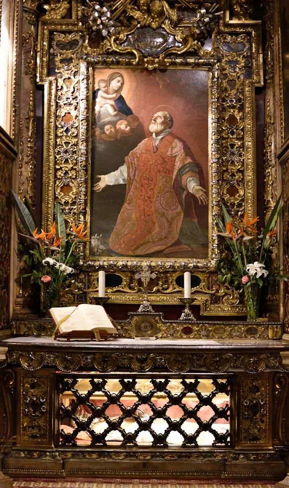 São Felipe Neri, Chiesa Nuova, Roma.Aparição da Virgem e túmulo