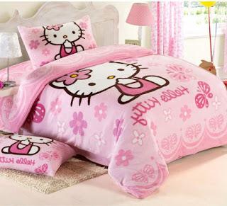 Gambar Sprei Motif Hello Kitty yang Lucu 1