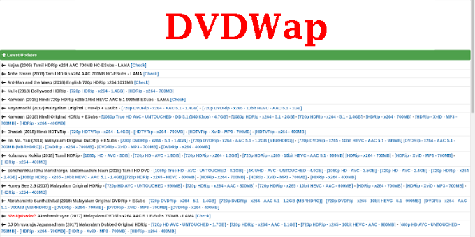 DVDWap- 2020 Latest Tamil Malayalam HD Movies Download DVDWap