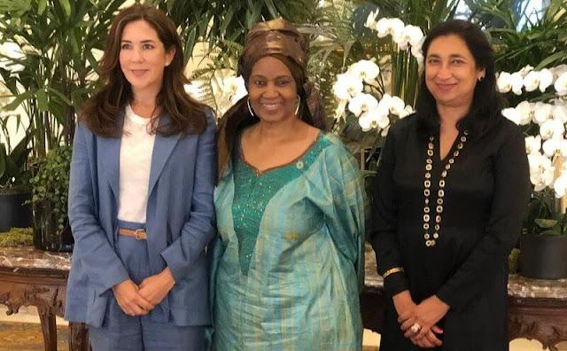 Crown Princess Mary, UN Women Executive Director Phumzile Mlambo-Ngcuka and UN Women Deputy Executive Director Anita Bhatia