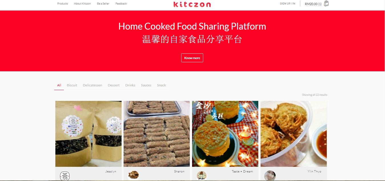 kitczon 网购手工住家美食新山  食物分享平台