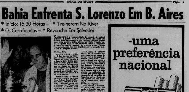Jornal dos Sports Bahia San Lorenzo