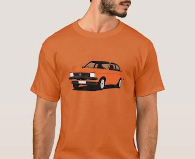 Opel Kadett C  Coupe retro oranssi t-paita