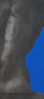 Torso with Blue Abstract painting of Human Figure