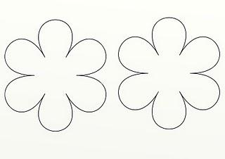 Felt Flower Template. off white wool scissors all purpose glue or ...