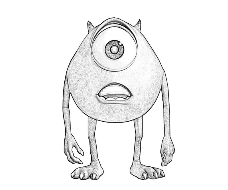 Monsters inc mike wazowski play mario for Mike wazowski coloring page