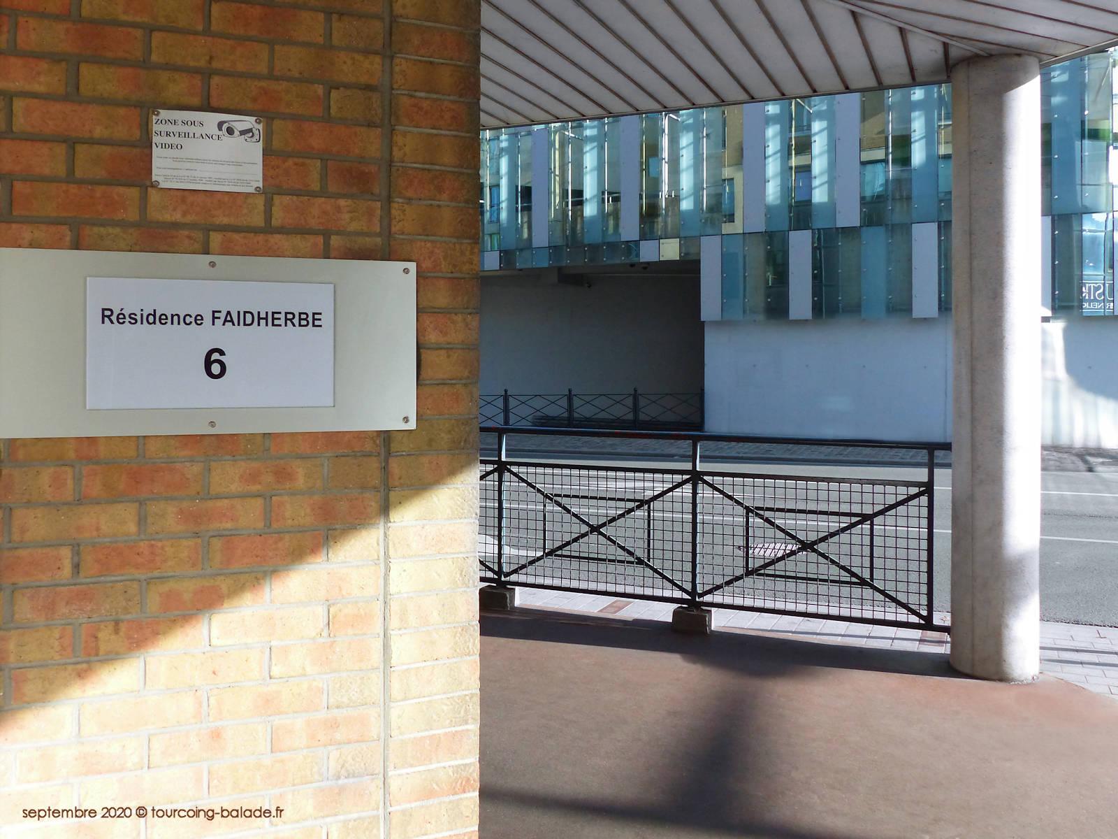 Entrée Résidence Faidherbe, Tourcoing 2020