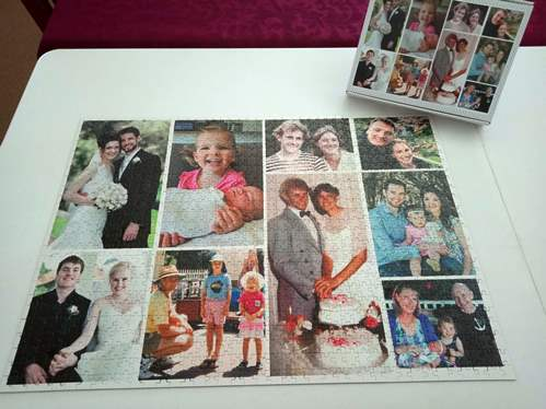 personalised 1000 piece family jigsaw