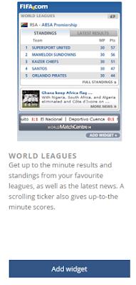 Halaman widget World League