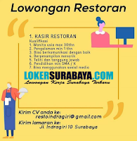 Lowongan Kerja Surabaya di Restaurant Indra Giri Oktober 2020