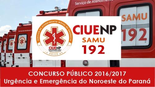 Apostila Concurso CIUENP SAMU 2016