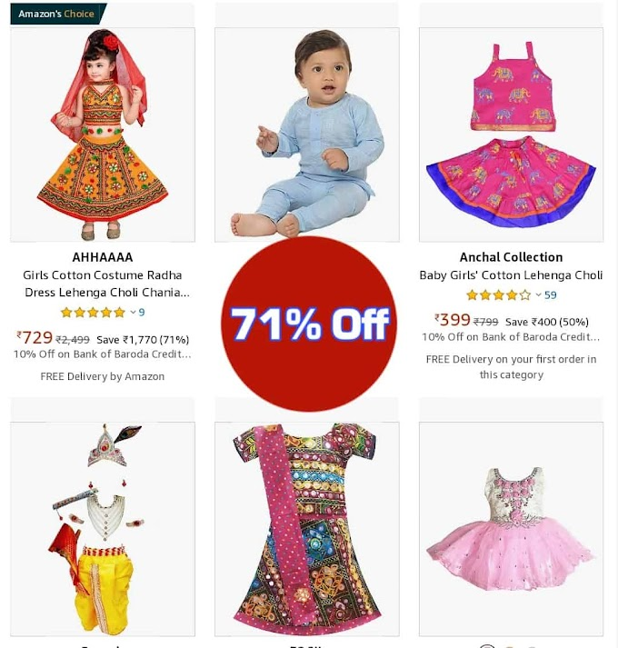 Navratri Dress For Baby Girl Jio amazon 60% Off Great Sele