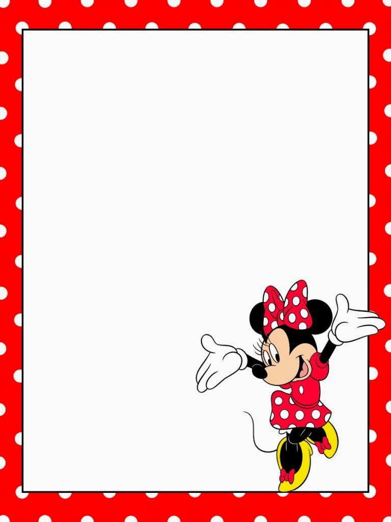 minnie in red free printable notebook