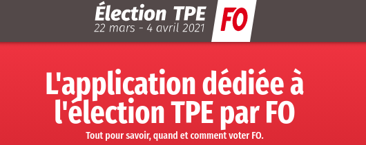 ELECTION TPE DU 22 MARS AU 4 AVRIL 2021