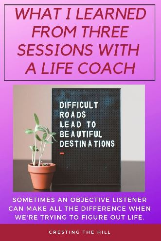 I used to be sceptical of life coaches, but I've changed my opinion after spending a few sessions with one. We can always learn more about ourselves and our situation with the help of an objective observer. #midlife #lifecoaching