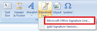 What is Signature Line and its Use in Ms Word and Excel in Hindi
