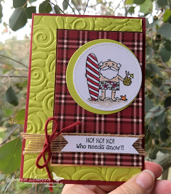 So Santa, Festive Farmhouse DSP, Lemon-Lime Twist, Rhapsody in craft, Christmas Cards, Christmas, DIY cards, AWH Colour Creations Blog Hop