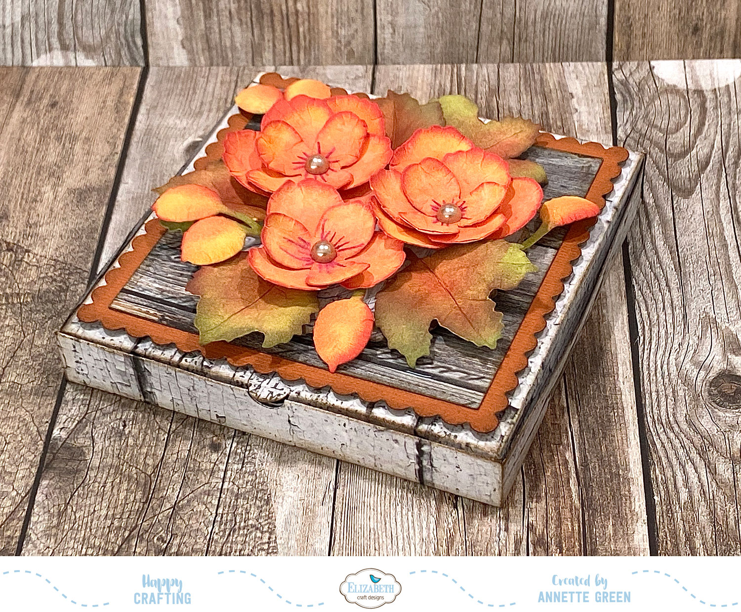 New layered flower and pizza box dies from Elizabeth Craft Designs -  Annette's Creative Journey