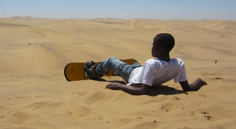 صورة غير عادية في الصحراء