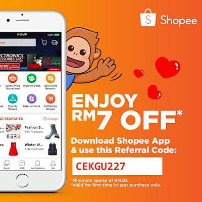 shopee voucher, voucher, download shopee, referral code shopee