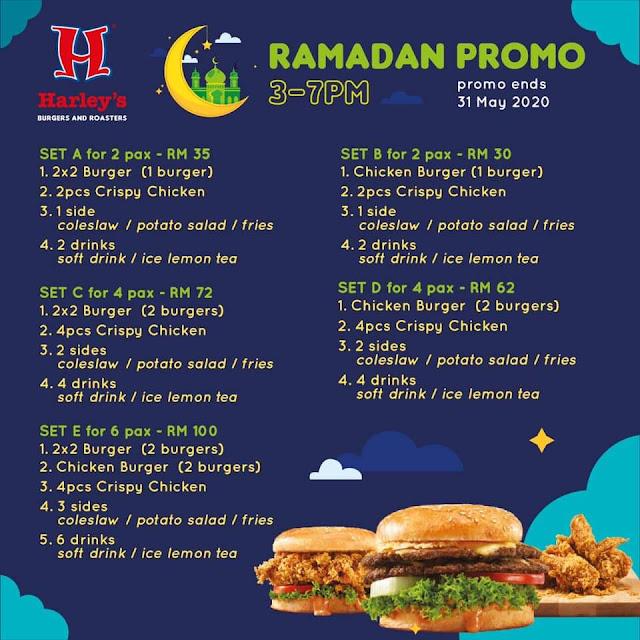 Harley's Burger Ramadan 2020 Promo Menu