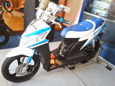 modifikasi motor matic suzuki nex