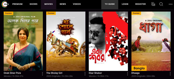 Zee5 bangla movie download site