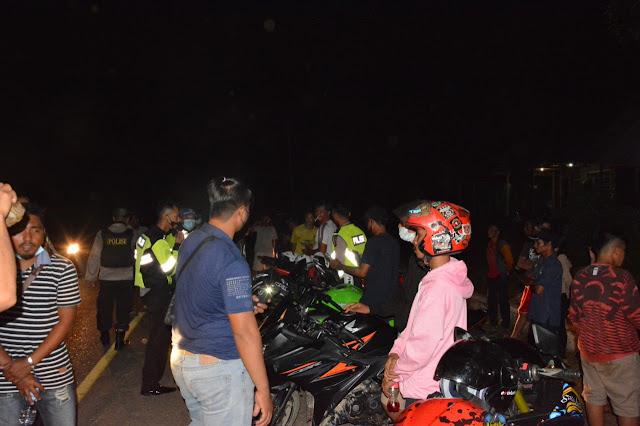 Resahkan Masyarakat, Polres Barsel Razia Balap Liar di Tikungan Gerinsing Amankan 31 Unit Motor