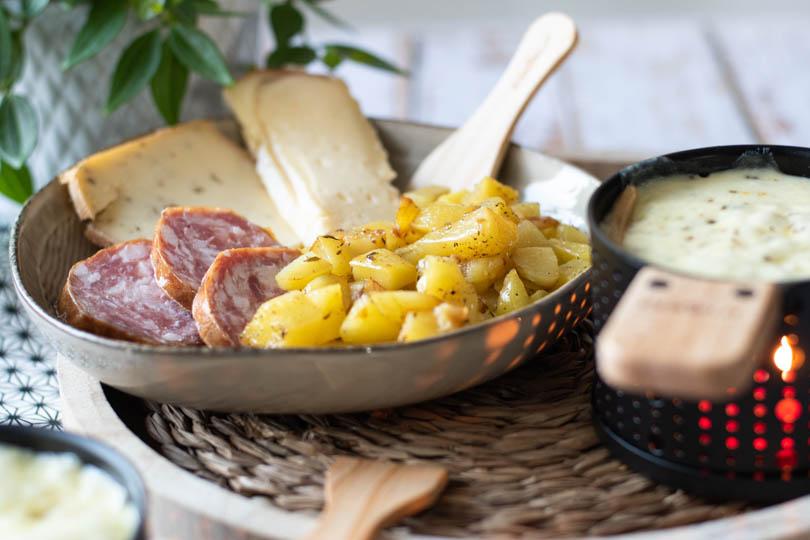 recette Raclette originale à la bougie