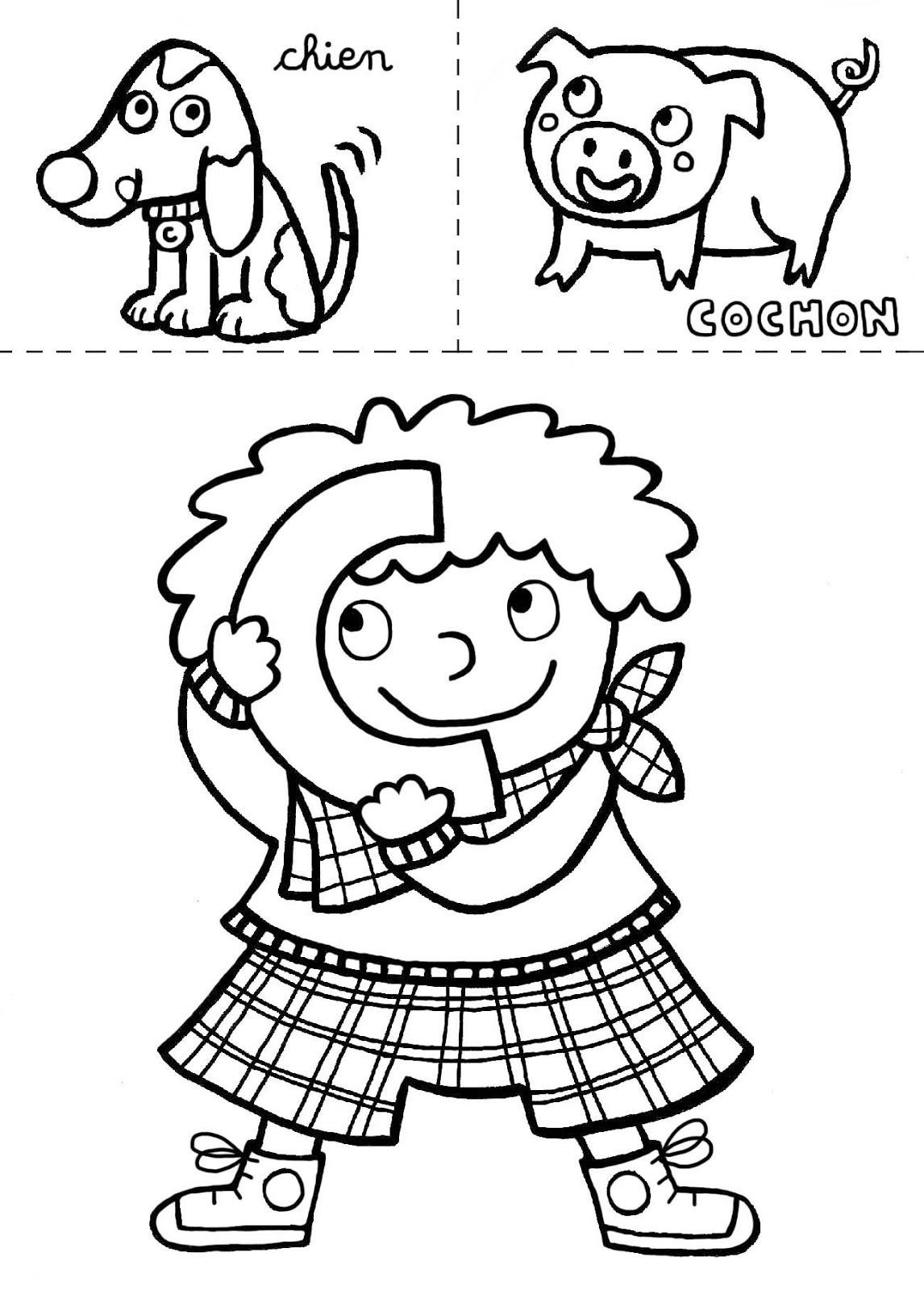 Hugo L Escargot Coloriage Alphabet | Imprimer et Obtenir une Coloriage Gratuit Ici