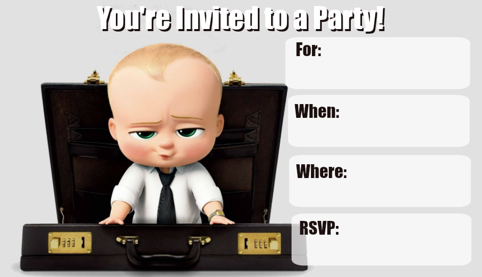 Musings Of An Average Mom Boss Baby Invitations 2