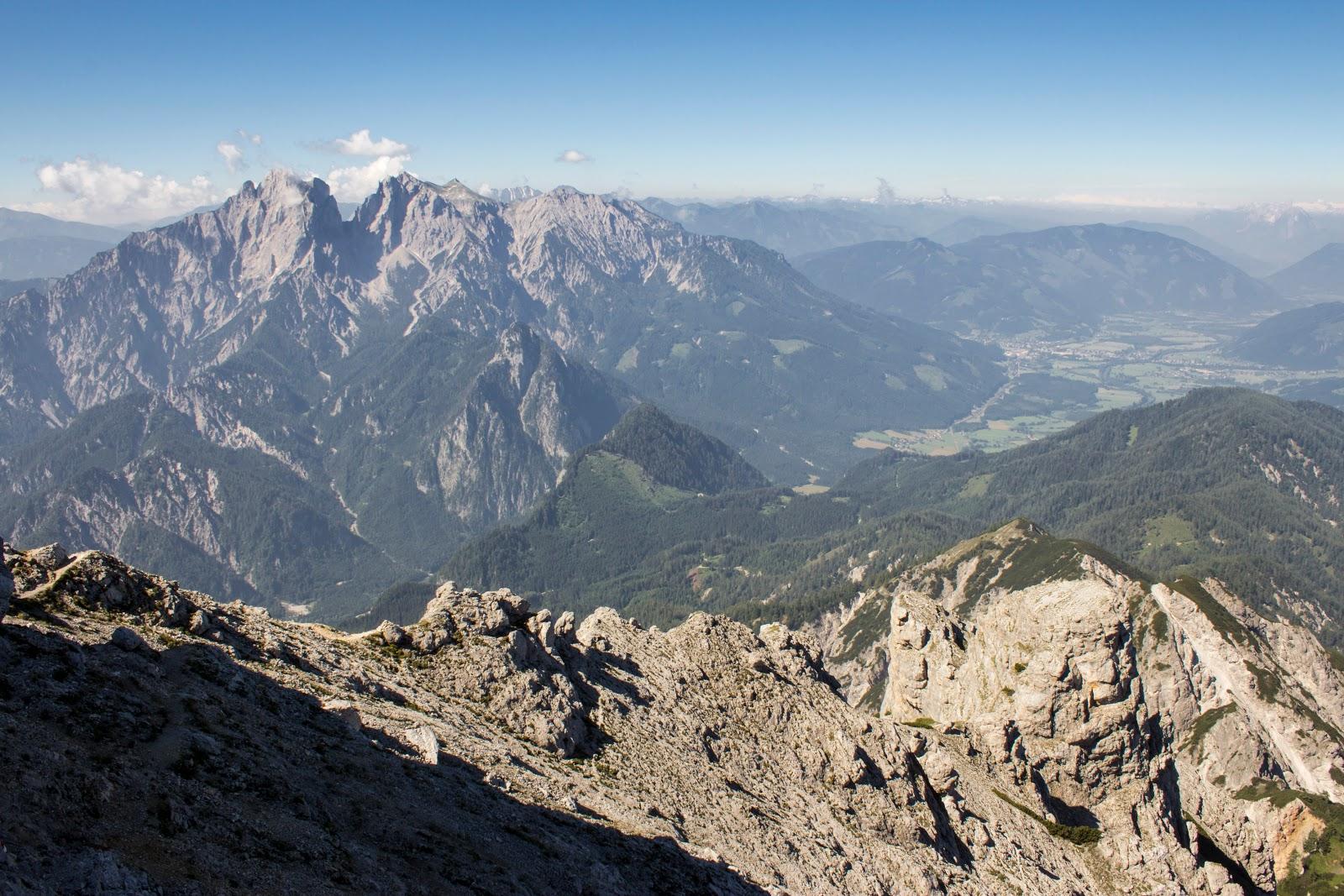 Zweitätige Wanderung im Gesäuse von Gsatterboden zum Buchsteinhaus und weiter über den Südwandband Klettersteig auf den Großen Buchstein