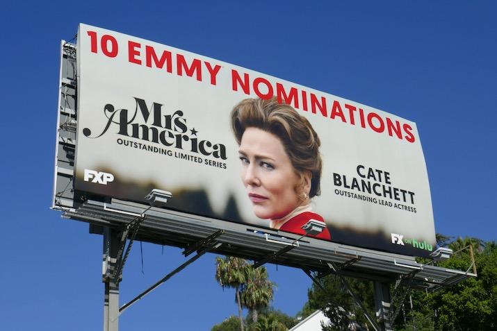 Cate Blanchett Mrs America 2020 Emmy nominee billboard