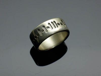 Diseño de anillo de bodas tecnologic fuera de lo común