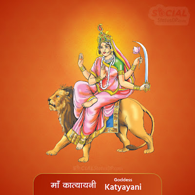 Maa Katyayani Image - Nav Durga Images with Names, Mantra, Slokas, Wallpaper