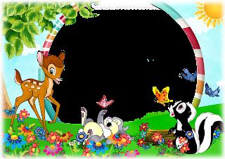 Molduras bebê com personagens de desenhos animados - contos de fadas
